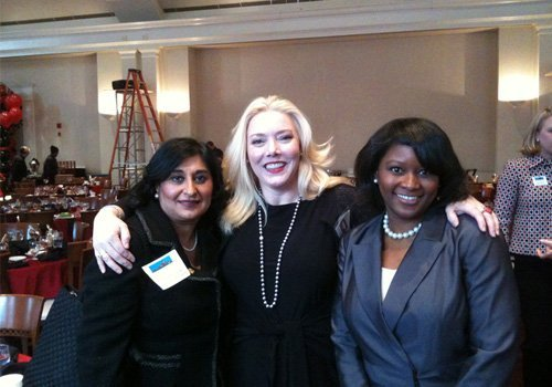 Dr. McKenzie at the Buckhead Business association with Roopa Bhandari (business banker) and Lolita Jackson (past president of the BBA)
